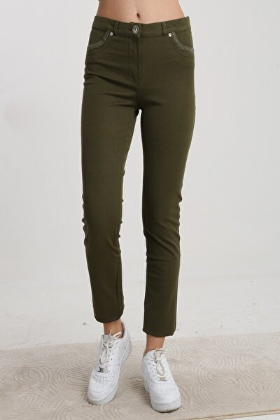 Kadın Haki Sihirli Pantolon