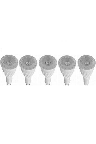 - 5 Watt Gu10 Duylu Çanak Led Ampul - Gün Işığı - (5 Adet)