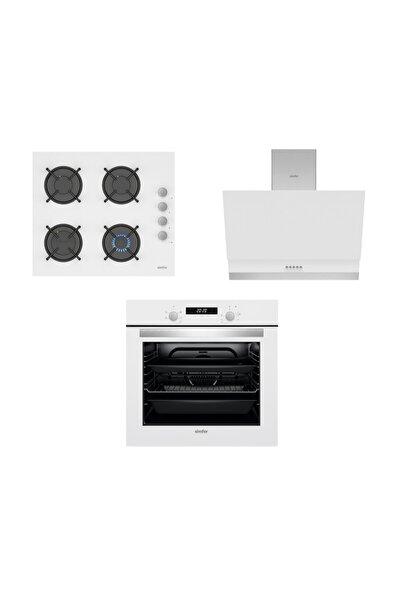 Beyaz Dijital Ankastre Cam Set (3507 - 9604 - 7340)