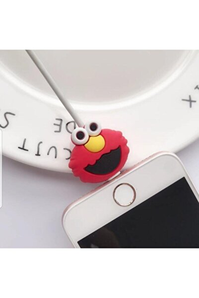 Sevimli Silikon Kablo Koruyucu Elmo