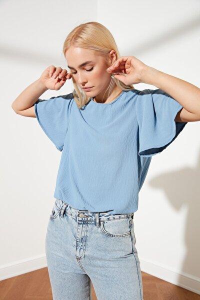 Açık Mavi Basic Bluz TWOSS21BZ0635