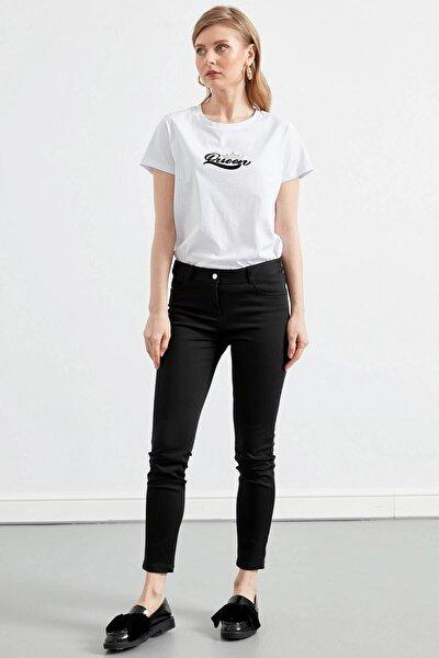 Kadın Siyah 5 Cepli Pantolon