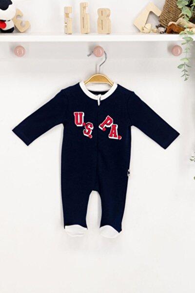U.s. Polo Assn Lisanslı Lacivert Bebek Uzun Kol Patikli Tulum Usb161