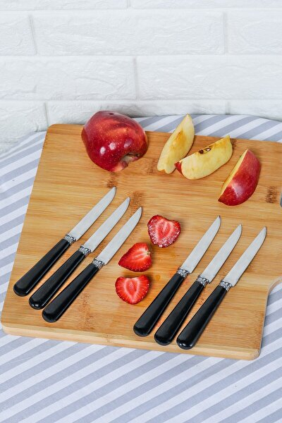 Siyah 6 Parça Kahvaltı Bıçağı Seti