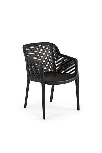 Octa Bahçe Balkon Sandalyesi Siyah