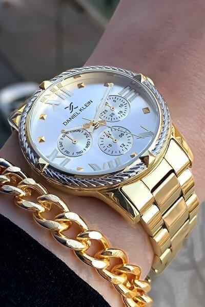 Kadın Sarı Kol Saati ve Bileklik