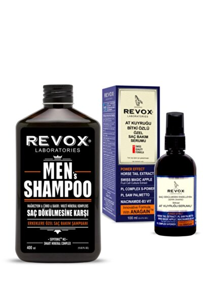 Erkeklere Özel Saç Bakım Şampuanı + At Kuyruğu Bitki Özlü Özel Saç Bakım Serumu