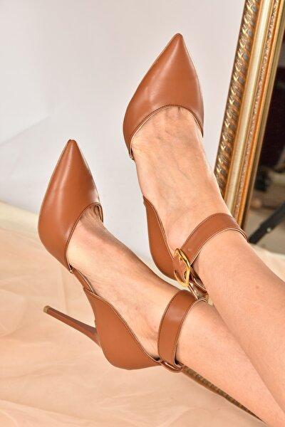 Kadın Taba Topuklu Ayakkabı K654073309