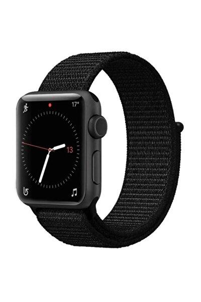 Siyah 38-40mm 3 4 5 6 Uyumlu Apple Watch Dokuma Kordon