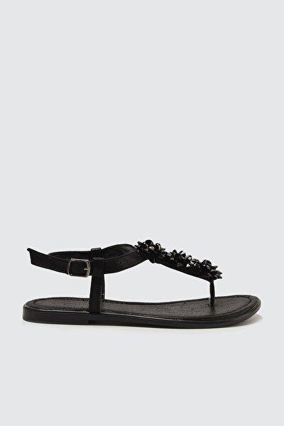 Siyah Kadın Sandalet TAKSS21SD0017