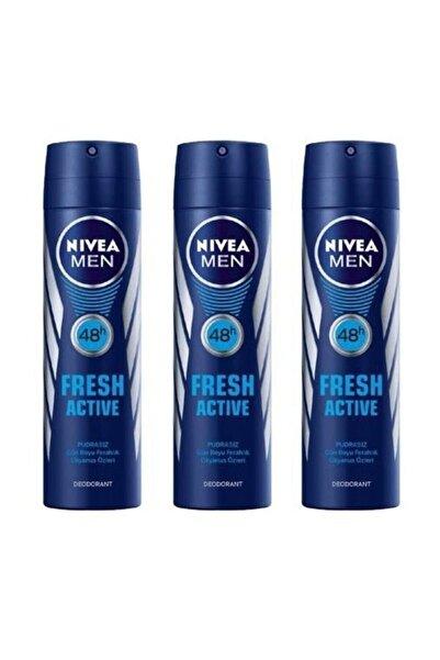 Men Deodorant Fresh Active 3 X 150 Ml