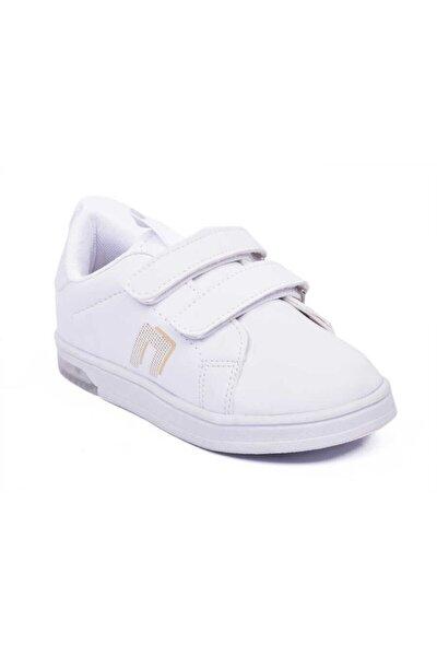 Beyaz Işıklı Ortopedik Çocuk Spor Patik Ayakkabı