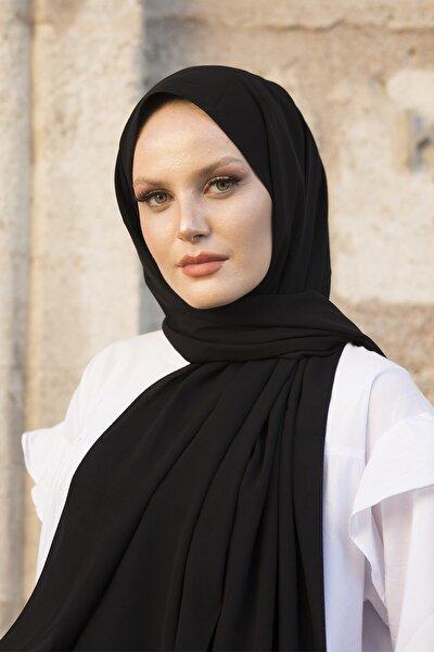Medine Ipeği Lux Siyah Şal