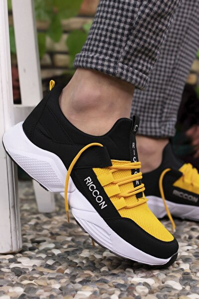 Siyah Sarı Unisex Sneaker