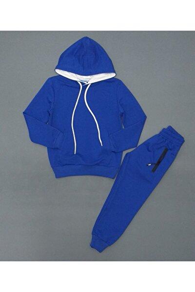 Unisex Çocuk Mavi Mevsimlik Eşofman Takım