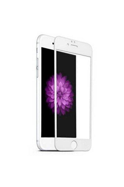 Iphone 7plus Ve 8plus 5d Komple Kaplayan Kırılmaz Cam Beyaz Full