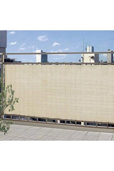 Gölgelik File 1,5x10 m Krem Gölgelik Branda Gölgeleme Tülü Çit Örtüsü Çit Filesi Balkon Gölgeliği