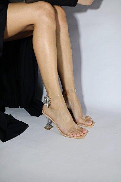 Nude Şeffaf Sandalet S-26159