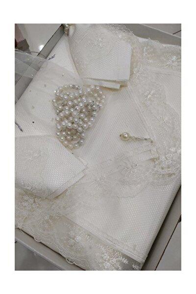 Pitikare 12 Kişilik Masa Örtüsü Takımı 26 Parça Kırık Beyaz Renk