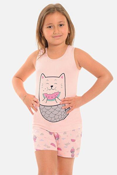 Kız Çocuk Şortlu Pijama Takımı (karpuz)