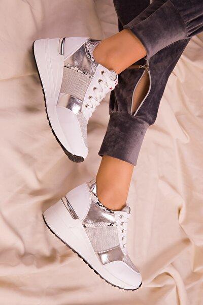 Beyaz Kadın Sneaker 15769