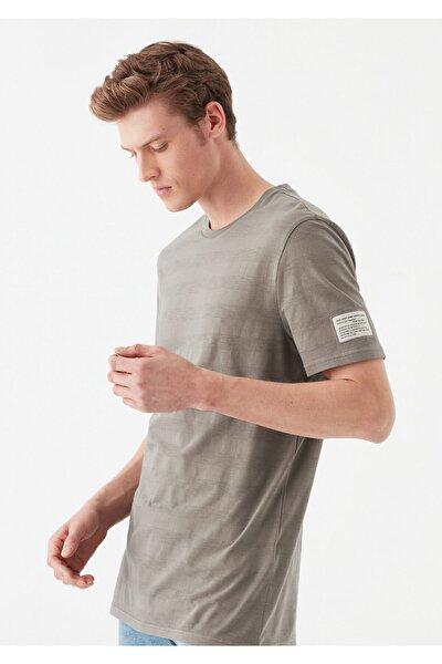 Çizgili Gri Tişört