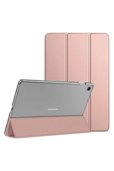 Microsonic Galaxy Tab A7 T500 Kılıf Slim Translucent Back Smart Cover Rose Gold