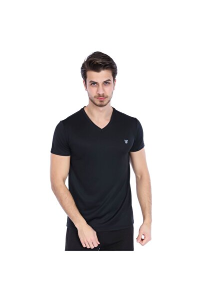 Spo-polvebasic Erkek Siyah Günlük Stil Tişört 710303-00b-sp