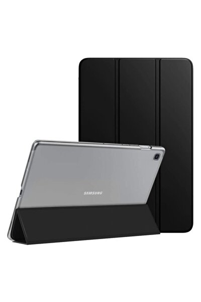 Microsonic Galaxy Tab A7 T500 Kılıf Slim Translucent Back Smart Cover Siyah