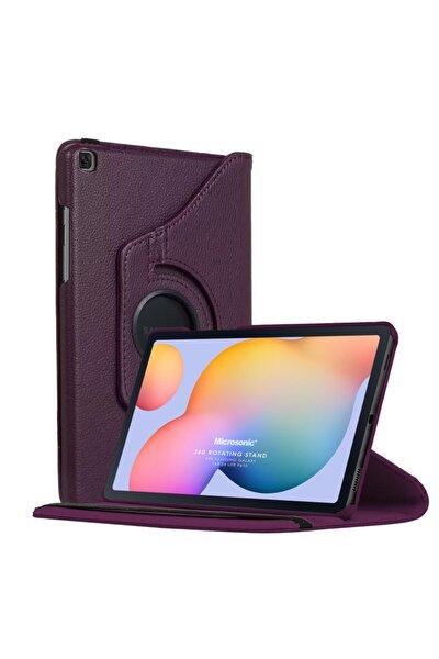 "Microsonic Galaxy Tab S6 Lite 10.4"" P610 Kılıf 360 Rotating Stand Deri Mor"