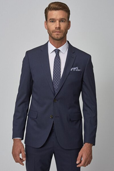 Erkek Lacivert Regular Fit Takım Elbise
