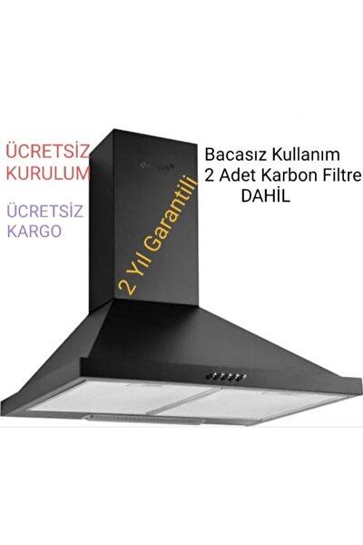 Bacasız Borusuz Karbon Filtreli Piramit Davlumbaz