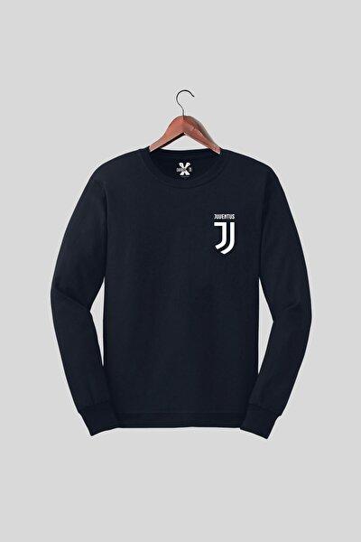 Juventus Logo Göğüs Baskılı Futbol Sweat Tasarım Sweatshirt