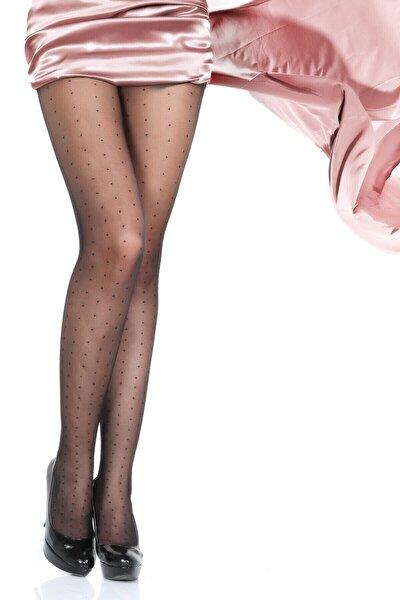 15 Den. Likralı Desenli Külotlu Çorap