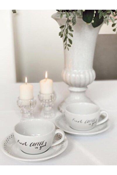 Porselen Fincan Takımı 2'li (Coffee-coffee)