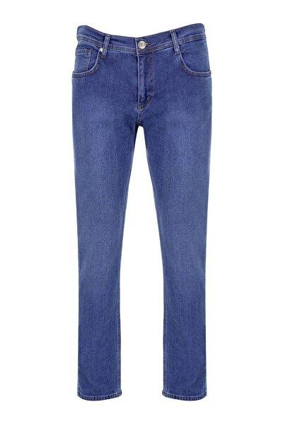 Erkek Açık Mavi Rahat Kalıp Pantolon