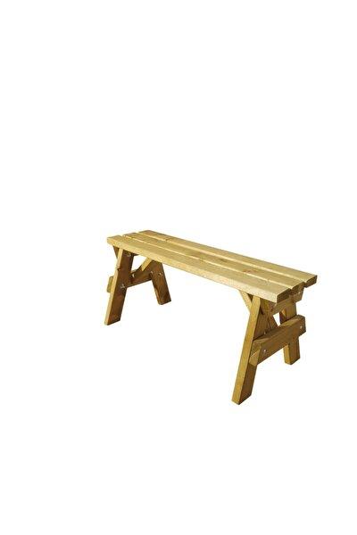 Bank Ahşap Bench Sandalye Mutfak - Yeşil