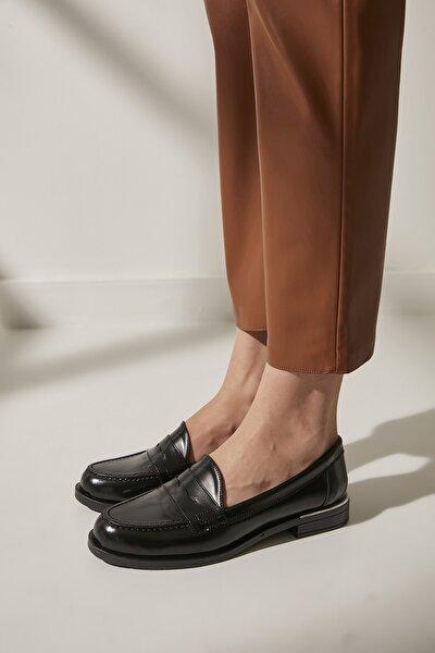 Siyah Kadın Loafer Ayakkabı 01AYY188100A100