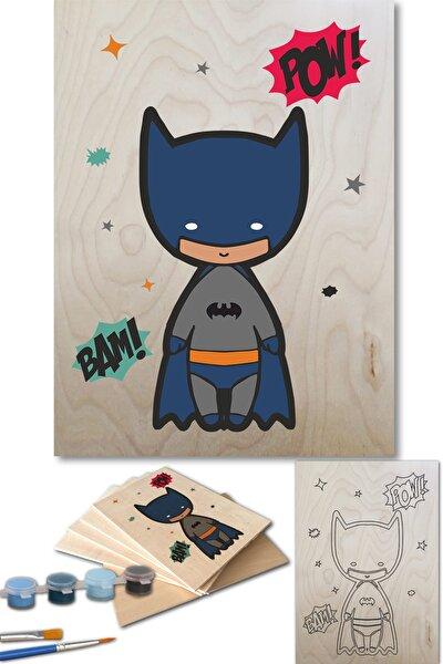 Batman Sayılarla Boyama Seti 35x50 Cm Ahşap Tablo