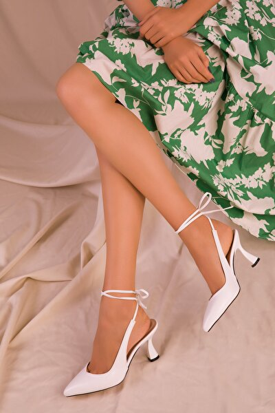Beyaz Kadın Klasik Topuklu Ayakkabı 15776