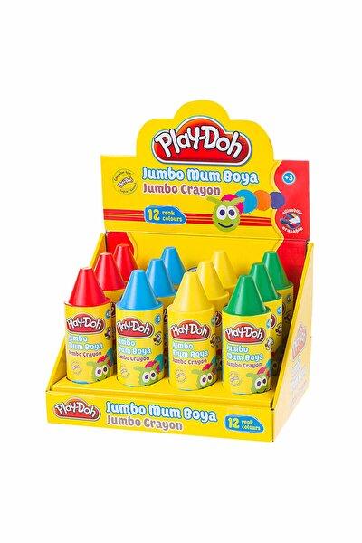 12 Renk Tüp 11 mm Crayon Mum Boya