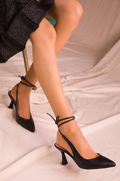 Siyah Kadın Klasik Topuklu Ayakkabı 15776