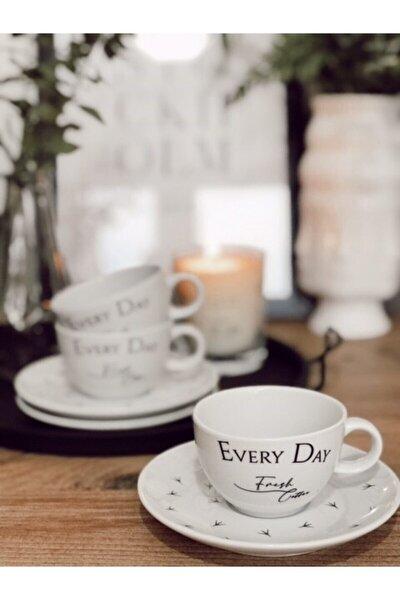 Porselen Türk Kahvesi Fincanı 2'li (motto)