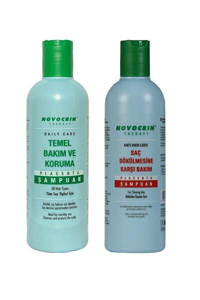 Placenta Saç Dökülmesine Karşı Bakım Şampuanı & Günlük Bakım Şampuanı 300 Ml 2 Li Paket