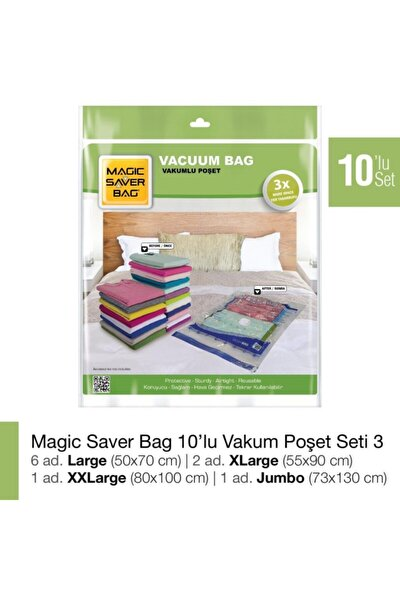 Magıc Saver Bag 10'lu Vakumlu Poşet Seti 3