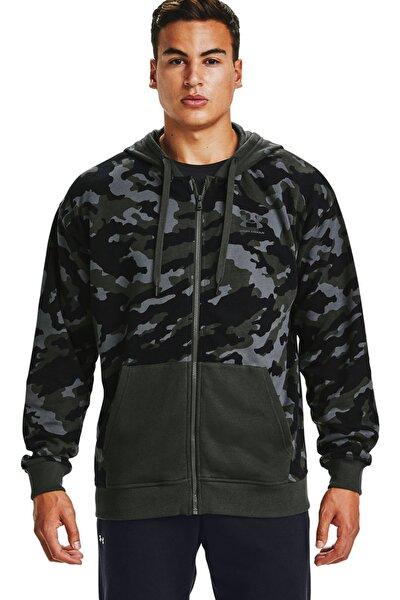 Erkek Spor Sweatshirt - Ua Rival Fleece Camo Fz - 1357147-310