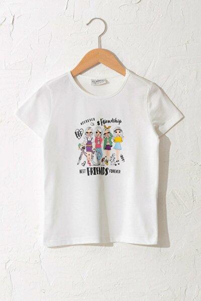 Kız Çocuk Ekru Fdu T-Shirt