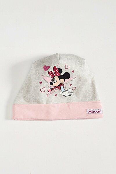 Minnie Mouse Kız Çocuk Ekru Fdu Bere