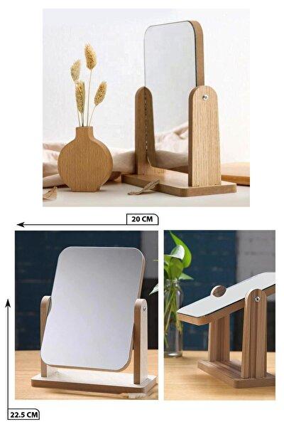 Masaüstü Ahşap Standlı Ayarlanabilir Ayna 20 cm