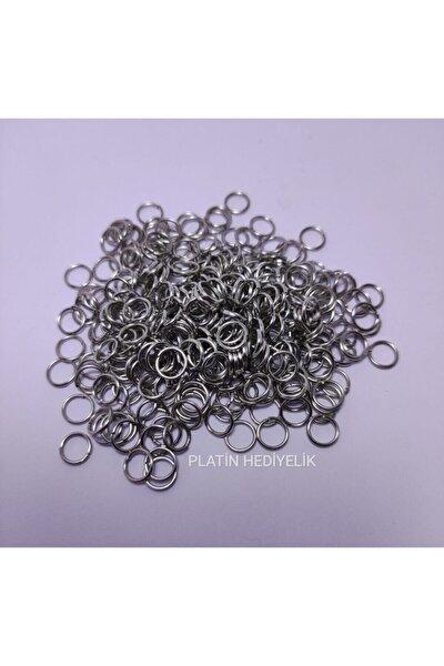80 gram Küçük Metal Gümüş Renk Takı Halkası Malzemesi Küpe Kolye Klipsi Kancası 6mm 6 Mm